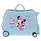 Disney Minnie Super Helpers Valigia per Bambini, Rigida in ABS, Chiusura a Combinazione Laterale, 4 Ruote, Bagaglio a Mano, Blu Chiaro