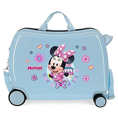 Disney Minnie Super Helpers Maleta Infantil Azul 50x38x20 cms Rígida ABS Cierre de combinación Lateral 34 1,8 kgs 4 Ruedas Equipaje de Mano