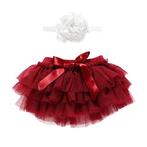 SCFEL Infant Baby Girl Volant Tulle Tutu gonna con fascia fiore neonato fotografia puntelli abiti