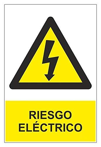 Becral® - Señal RIESGO ELECTRICO de tamaño 150x200mm material ADHESIVO (ref.RD35607)