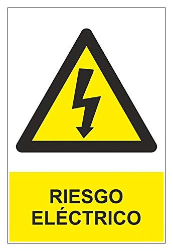 MovilCom® - Señal RIESGO ELECTRICO material PVC 0,7mm 210X300mm homologado nueva legislación (ref.RD30007)