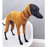 Whippet, Ropa de Galgo Italiano, Mono de Perro Ligero para Perros medianos Grandes, Pijamas para Mascotas, Pijamas para Camisa de Pastor PJS