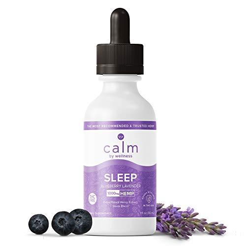 Sleep Aid Natural Hemp Oil Drops, Pure Organic Herbal Supplement | Extra Strength Sleep Aid for Adult |1000mg Sleep Hemp Oil Drop Blueberry Lavender Flavor