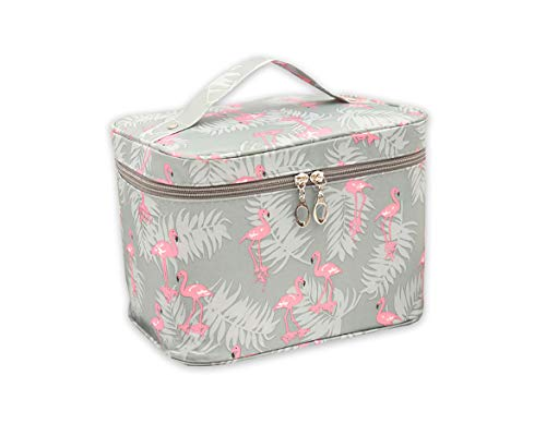 Flamingo Cute Makeup Bag Organize Large Size Travel Cosmetic Bags Waterproof Portable Toiletry Storage For Women