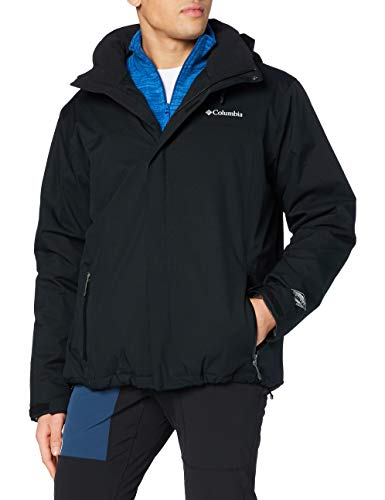 Columbia Wasserdichte Winterjacke für Herren, Everett Mountain Jacket, Polyester, Schwarz, Gr. XL, 1683664
