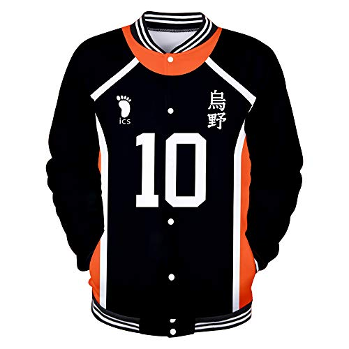 Haikyuu!! to The TOP Jacke Baseball Sweatshirt Anime Pullover Volleyball Fans Freizeitmäntel Langarm Tops Mode Mäntel für Männer Frauen