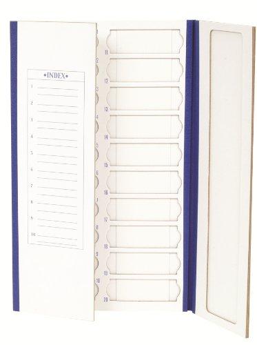 Heathrow Scientific HEA9913 HD9913 Cardboard Blue Trim Slide Tray, 20 Place, 208mm Length x 341mm Width x 9mm Height (Pack of 72)