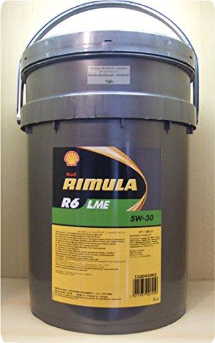 Shell RIMULA R6 LME 5W-30, 20 litros de aceite de motor (E7/228.51)