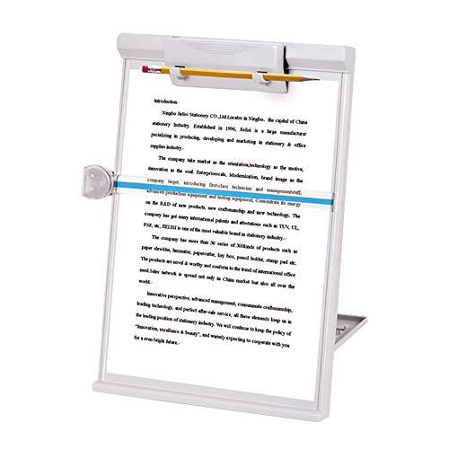 Lenhart Réglable Pliable Bureau Support à copie Chevalet de Format de Papier A4 Type lecture Support Copyholder, 35,1 x 22,9 cm, Gris