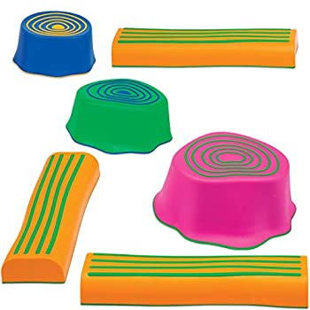 edxeducation Step-a-Trail - 6 Piece Obstacle Course for Kids - Indoor and Outdoor - Build Coordination and Confidence - Physical and Imaginative Play
