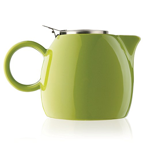 Tea Forte PUGG 24oz Ceramic Teapot with Improved Stainless Tea Infuser,...