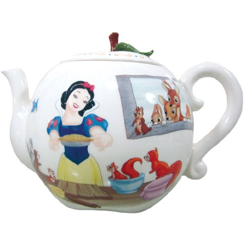 Westland Giftware 15,2cm teiera in ceramica, 992,2gram, Disney di Biancaneve Apple