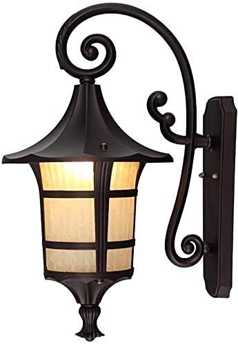 Rekaf Estilo Europeo Estilo Retro luz Tradicional al Aire Libre Europeo Pared Linterna rústica Impermeable Patio Pared luz de Pared Pasillo Pasillo Montaje en Pared Accesorio Americano jardín lámpara