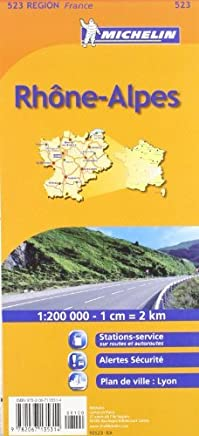 Michelin Map France: Rhone Alpes 523 (Maps/Regional (Michelin)) (French Edition) by Michelin(2007-01-01)