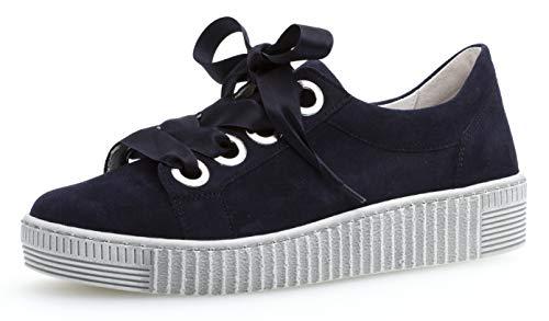 Gabor 23.330 Damen Sneaker,Low-Top Sneaker, Frauen,Business Sneaker,Halbschuh,Schnürschuh,Strassenschuh,sportlich,Freizeitschuh,Best Fitting,Übergrößen,Optifit- Wechselfußbett,Bluette,6.5 UK