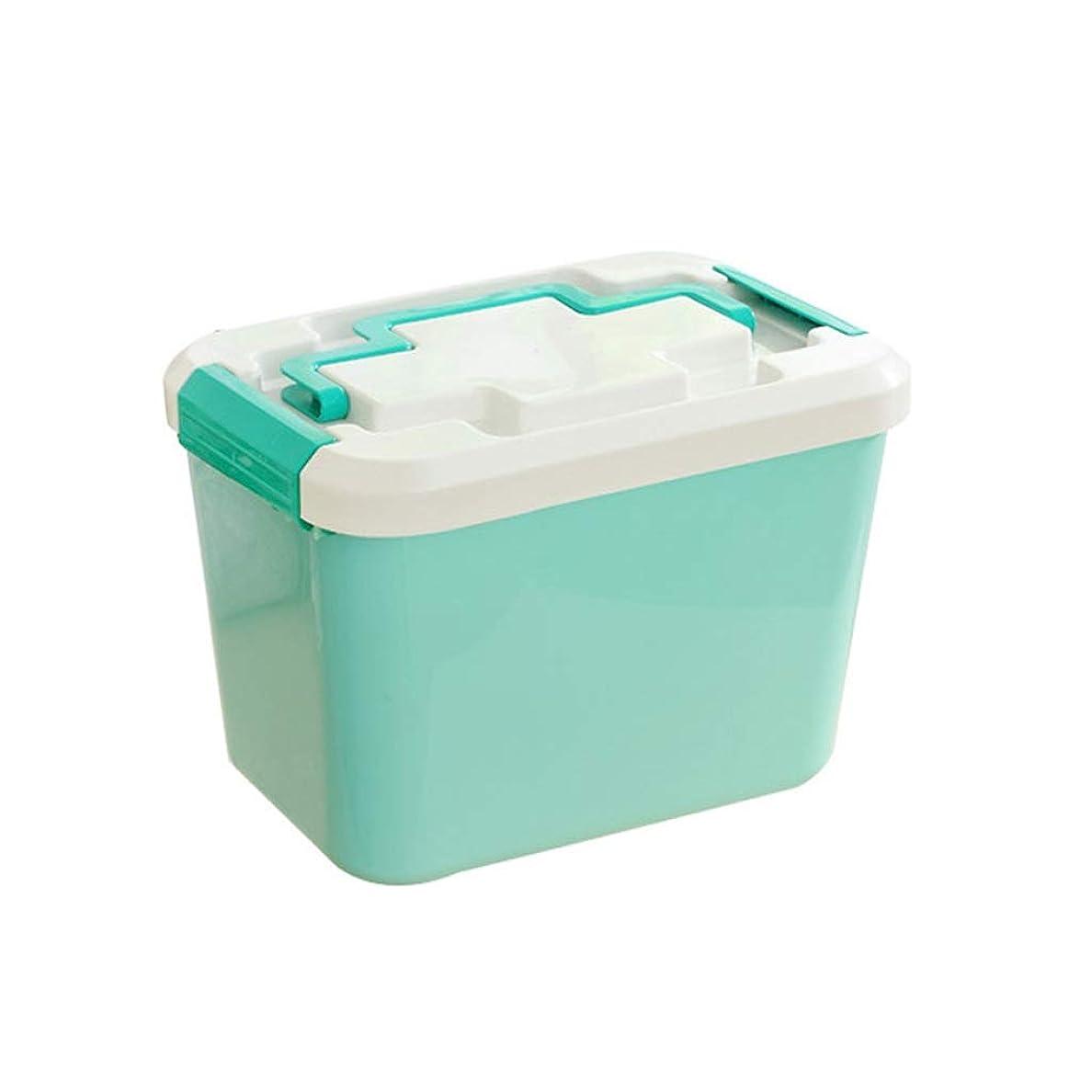 買い手解体する普通にLCSHAN 家族大薬箱多層ドラッグ収納ボックス応急処置ボックスプラスチック製のポータブル
