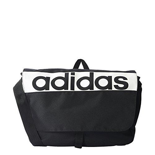 adidas kinderen Linear Performance schooltas, zwart/wit/13 x 39 x 28 cm
