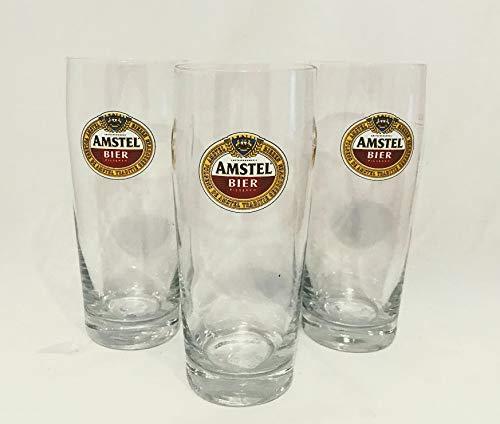 Amstel Bierglazen 0,22 l Bierglas Holland/Nederland Bierglazen set van 3