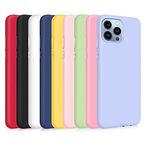 9X Funda para iPhone 13 Pro MAX, Ultra Delgado Color Silicona Carcasa...