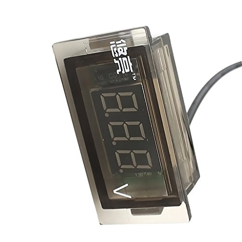 perfk Mini LED 3 Dígitos Medidor De Voltaje Digital Voltímetro Panel DC 12 A 24V Impermeable Para Coche Camión Motocicleta ATV - VERDE