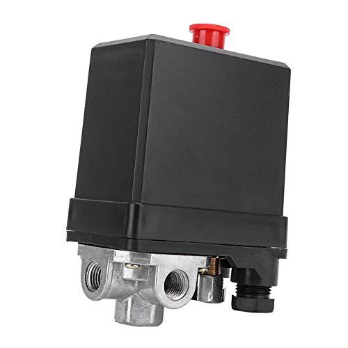 """Interruptor de control de presión, válvula de control de interruptor de presión tipo vertical trifásica de 380 V y 4 orificios G1/4""""para el mejor reemplazo del compresor de aire"""
