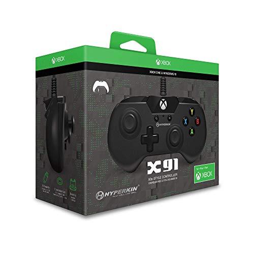 Hyperkin X91 Joystick Xbox One schwarz - Zubehör für Gaming (Joystick, Xbox One, Analog, kabelgebunden, USB, Schwarz)