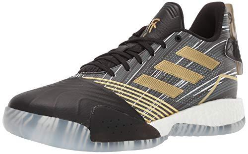 adidas Men's TMAC Millennium Basketball Shoe, Black/Gold Metallic/Dark Grey Heather Solid Grey, 11 M US