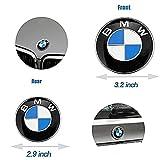BMW Emblems Hood and Trunk, BMW Emblem Logo Replacement 82mm + 74mm for ALL Models BMW E30 E36 E46 E34 E39 E60 E65 E38 X3 X5 X6 (82mm + 74mm)