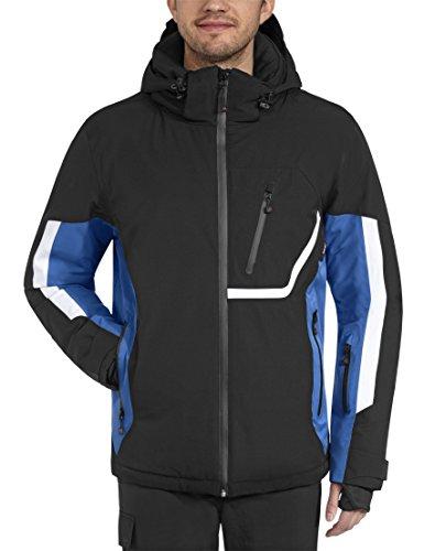 Maier Sports Herren Skijacke Amden, Black / Strong Blue, 46, 110507