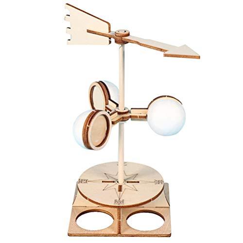 Venhoy Windfahne Montage Modell Spielzeug Kinder Windfahne Modell DIY Richtung Experiment Kit Wissenschaftliches Lernspielzeug