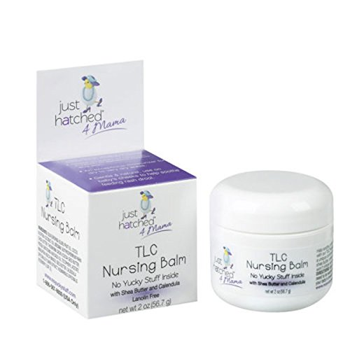Just Hatched 4 Mama TLC Nursing Balm, Natural and Affordable, for Safe Breastfeeding, Made with Shea Butter and Calendula, Lanolin Free, Cruelty Free, 2 oz