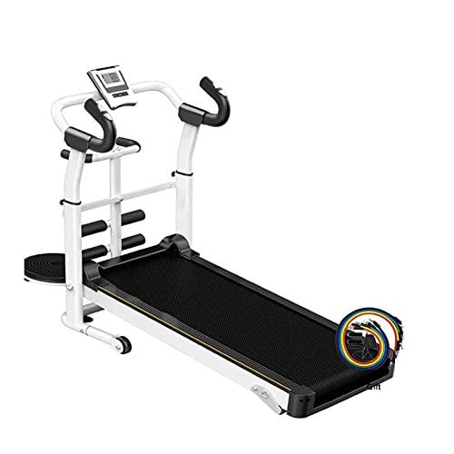 WJFXJQ Tapis roulant Pieghevole con Display LED, Compatto Meccanica Tapis roulant, Portatile Incline Shock Regolabile Home Sport Indoor