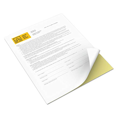Xerox Premium Digital Carbonless Paper 2-Part Straight Collated White/Yellow, 8.5