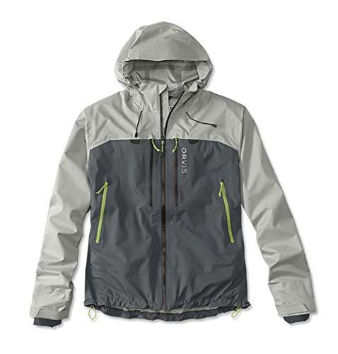 Orvis Men's Ultralight Wading Jacket, Alloy/Ash, Large