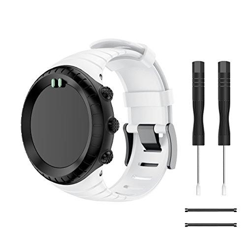TOPsic Suunto CORE Watch Cinturino, Braccialetto di Ricambio in TPU Morbido con Gancio Metallico per Suunto CORE Smart Watch, per Polso 5.51 -9.06  (140mm-230mm)
