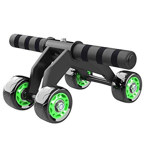 Sunshine smile AB Roller bauchtrainer,bauchroller bauchmuskeltrainer,bauchroller Rad,4 Rad bauchtrainer Roller,abdominal Roller Wheel,bauchroller fitnessgerät(Grün)