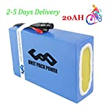 UPP Ebike Battery 48V 20AH Waterproof PVC Lithium Battery Pack with Charger and 30A BMS Protection for Ebike, Go Kart, Scooter 1000W 750W 500W Motor (US Warehouse)