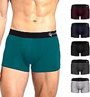 平角内裤 男士 内衣 6条装 前闭式 吸水速干 平角内裤 低腰