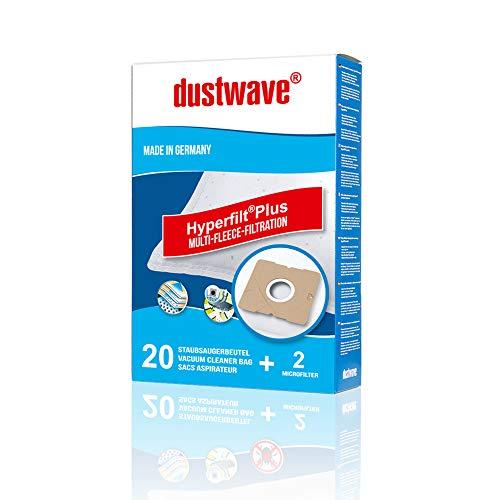 dustwave Megapack - 20 bolsas de filtro para aspiradoras Taurus - Vitara 3000, 3000 New - Bolsas para aspiradoras Dustwave®, fabricadas en Alemania, incluye microfiltro
