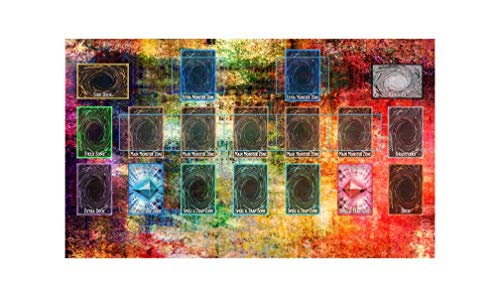 Yo-gi-oh Tie Dye Custom Template 2017 Master Rule 4 Link Zone Playmat - Yugioh Galaxy Master Rule 4 Link Zone Playmat - Trading Card Game Playmat - TCG Playmat MTG Playmat TCG Play mat Yogioh Playmat