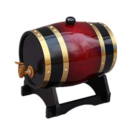25 l eikenvat, gepersonaliseerd houten eikenvat houten vat, rode wijn eikenvat voor het bewaren van wijn, sterke drank en gevelbier deep red