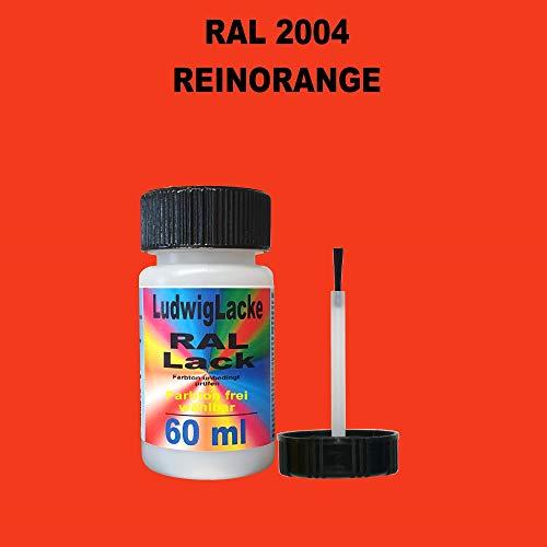 60 ml Lackstift mit Pinsel im Farbton RAL 2004 Reinorange