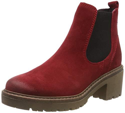 MARCO TOZZI Damen 2-2-25831-23 Chelsea Boots, Rot (Red Comb 597), 37 EU