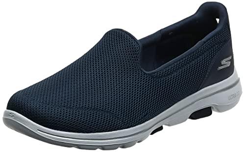 Skechers womens Go Walk 5 - 15901 Sneaker, Navy/White, 7.5 US