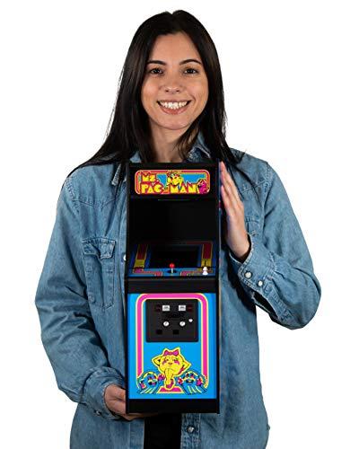 quarter arcades Ufficiale Ms. Pac-Man 1/4 Sized Mini Arcade Cabinet Numskull - Playable Replica Retro Arcade Game Machine - Micro Retro Console