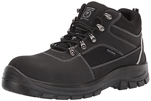 Skechers Mens Trophus Steel Toe Boot,Black,9.5