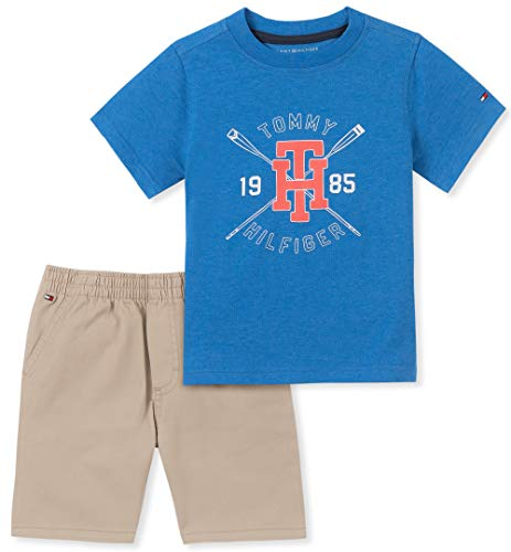 Tommy Hilfiger Baby Boys 2 Pieces Shorts Set, Blue, 12M