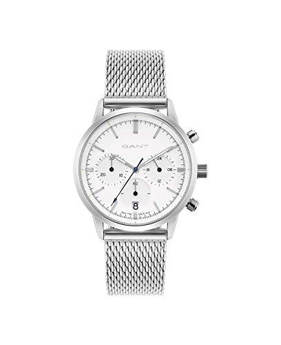 Reloj para Mujer GANT con Pulsera de Cuero Genuino Plateado