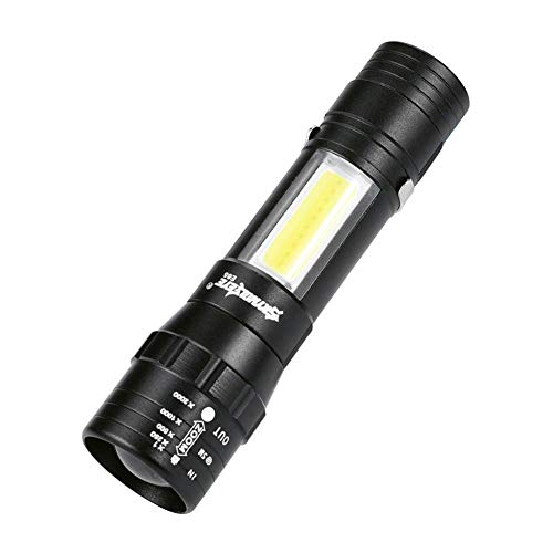 Linterna Led Portatil, Seawang Skywolfeye Portable 4 Modos Cob Led Carga Usb Zoom Focus Torch Light