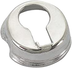 MACs Auto Parts 28-20833 Model A Ignition Switch Key Hole Cap - Nickel - For Pop Out Type Cylinder